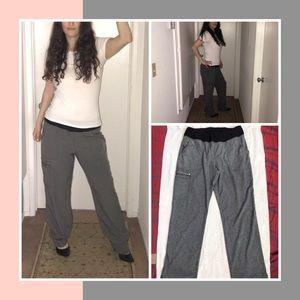 Gray comfy sweat dress pants. No brand. Size M